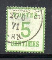 Maury N° 4 Vert-jaune - Burelage Droit Oblitéré  Côte : 19 € - - Alsace-Lorraine