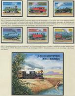 GUINEA / MiNr. 1659 - 1664 Und Block 512 / Lokomotiven / Postfrisch / ** / MNH - Trenes