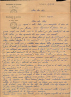 Lettre, Var, Chantiers De  Jeunesse, Le Muy, Grt De Jeunesse N°16 Foret Du Rouet, Lot De 2 Lettres    (bon Etat) - 1939-45