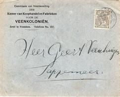 9 VII 21 Kortebalk VEENDAM Op Firmaenvelop Naar Sappemeer - Postal History