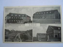 Deutschland Allemagne AACHEN Aken Caserne Kazerne Multi-vues Un Bonjour Du 17e R.A.C. AIX 1951 - Aken