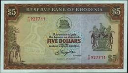 ♛ RHODESIA - 5 Dollars 15.05.1979 AU-UNC P.40 - Rhodesia