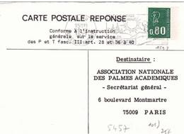 Carte Postale Reponse Marianne Bequet 1893 Flamme De Andorre La Vieille Vallée D'andorre Soleil Neige 1977 - 1971-76 Marianne (Béquet)