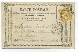 Carte Precurseur CPO / T17 PONTCHARRA SUR TURDINE / Dept 68 Rhône / 1874 - 1849-1876: Classic Period