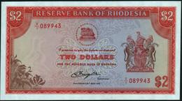 ♛ RHODESIA - 2 Dollars 24.05.1979 {X/1 Replacement} UNC P.39 R - Rhodesia
