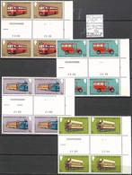 [107345]TB//**/Mnh-Guernesey 1979 - N° 18689, Bd4, Interpanneau Avec N° Planche , Bus & Autocars, Tramways - Bus