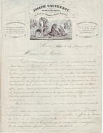 Facture Du Joseph Gautherot, Entrepeneur, Sedan, Ardennes 1872 - 1800 – 1899