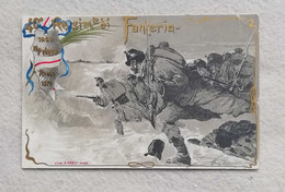 Cartolina Postale Italiana 40° Reggimento Di Fanteria, Viaggiata Per Parma 1904 - Regimientos