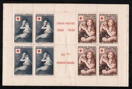 France YT 2002 Carnet + Rouge 1954 Neuf ** MNH Timbres Parfait Couverture STD Aucune Adhérence Cote 180€ - Rode Kruis