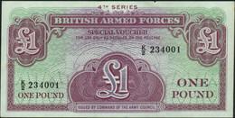 ♛ GREAT BRITAIN - 1 Pound Nd.(1962) AU P.M 36 - Forze Armate Britanniche & Docuementi Speciali