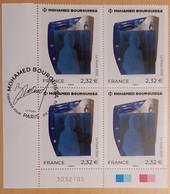 2020 - BLOC 4 - Coin Daté - MOHAMED BOUROUISSA - Oblitéré 1er JOUR - 09.10.2020 - Used Stamps