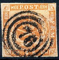 Stamp Denmark 1854 4s Used Lot2 - Oblitérés