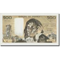 France, 500 Francs, Pascal, 1968, 1968-12-05, SPL, Fayette:71.02, KM:156a - 500 F 1968-1993 ''Pascal''