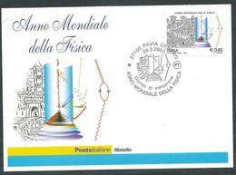 2005 ITALIA CARTOLINA POSTALE FDC ANNO MONDIALE DELLA FISICA - BF - Postwaardestukken