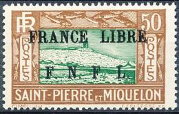 Stamps St.Pierre & Miquelon 1942 50c  Overprinted In Black Mint - Nuovi