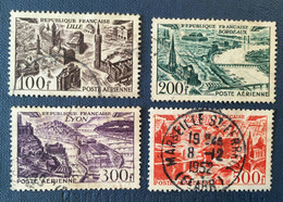 FRANCE PA 1949 - Grandes Villes Lille Bordeaux Lyon Marseille - Complète 4 Valeurs -  Used - Y&T 24 à 27 - Cf Scan - 1927-1959 Ungebraucht