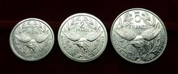 Nueva New Caledonia Set 1 2 5 Francs 2002-2003 Km 10 14 16 SC UNC - New Caledonia