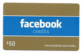 Facebook,  U.S.A.  Gift Card For Collection, No Value # Facebook-2 - Gift Cards