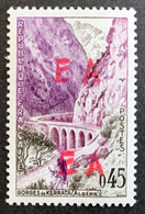 ALGERIE 1962 - YT357** -  SURCHARGE EA ORLEANSVILLE ROUGE- 10.34R (Surcharge Locale) - Algeria (1962-...)