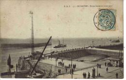 76 LE HAVRE N°E.B.Z 57 Brises Lames Et Avant Port Grue Phare En 1905 Belle Animation Voilier De Pêche - Harbour