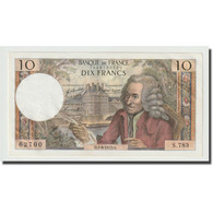 France, 10 Francs, Voltaire, 1972, 1972-06-01, SPL+, Fayette:62.56, KM:147d - 10 F 1963-1973 ''Voltaire''