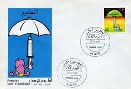 FDC Algérie  1987 - Campagne Pour La Vaccination Infantile- N° YT 895. - Algeria (1962-...)