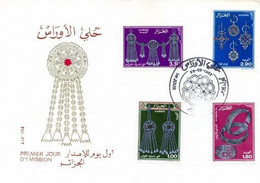 FDC 1987 Algerie Silver Jewelry Bijoux D'Argent 1987 - Algeria (1962-...)