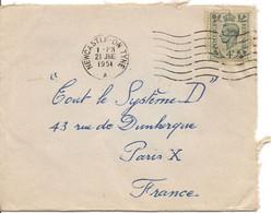 1951 - George VI 4d Sur Lettre Du 21 Juin 1951 De Newcastle-on-Tyne Pour Paris - Ohne Zuordnung