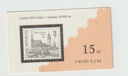 (W026) Booklet -  Czech Republic -   Definitive, Monuments -   MNH - Ungebraucht