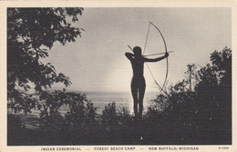 NEW BUFFALO , Michigan , Indian Ceremonial - Forest Beach Camp - Indiani Dell'America Del Nord