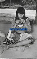 146018 PERU PUCALLPA COSTUMES WOMAN SHIPIBO AND CHILD POSTAL POSTCARD - Perú