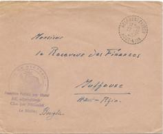 LETTRE 1957 AVEC CACHET PERLE DE HELFRANZKIRCH HAUT RHIN - Elsass-Lothringen