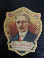 Insigne épinglette Carton Le Devoir Social Paul Deschanel - 1914-18