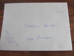 Lettre De La Régie Des Postes Oblitérée Du RARE CACHET INTERNE De CHARLEROI X MESS En 1977. A Circulé - Other