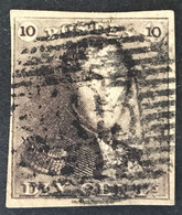 Epaulet 1 Gestempeld P103 ST GHISLAIN - Ruime Marges - 1849 Epauletten