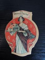 Insigne épinglette Carton Le Devoir Social Reconstitution Des Foyers Détruits Par La Guerre 1914-1918 - 1914-18