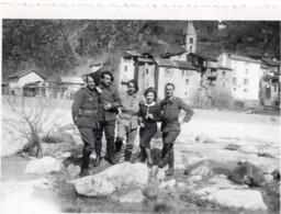 ST SAINT SAUVEUR SUR TINÉE 1939 Le 10 Avril - Militaire Photo - Chasseurs Alpin ? - Oorlog, Militair