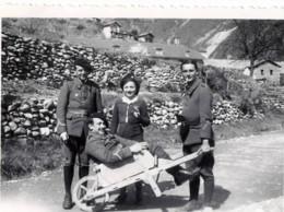 ST SAINT SAUVEUR SUR TINÉE 1939 Le 10 Avril - Militaire Avec Brouette Photo - Chasseurs Alpin ? - Oorlog, Militair