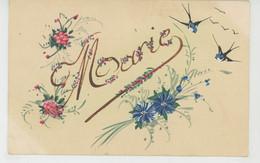 PRENOMS - Jolie Carte Fantaisie Fleurs Et Hirondelles Prénom MARIE - Voornamen
