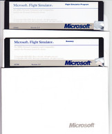 MICROSOFT FLIGHT SIMILATOR VERSION 3.0 (1988) - 2 Diskette 5 ¼ - Dischetti 3.5