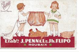 ROUBAIX  -  PUBLICITE  -  Etablissements PENNEL FLIPO  -  Articles Layette Hygiène Marque PROTEGE  - - Roubaix