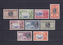 CAYMAN 1935, SG# 96-104, Short Set, Birds, Boat, Personalities, MH - Kaaiman Eilanden