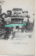 "CPA  INDE  Colonie Française -""Pondichéry, Villa Blin"" - India"