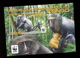 Congo RD 2012 -Singe WWF-Bloc***MNH - Scimmie