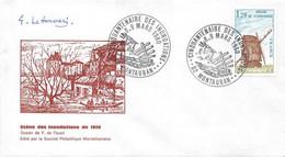 1980 Marcophilie 1 Enveloppe Cinquantenaire  Des Inondations De Mars 1930 à MONTAUBAN - Gedenkstempels