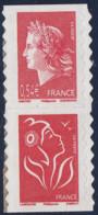 Année 2007 - N° P139 - 40ème Anniv. De La Marianne De Cheffer - 0. 54 € + TVP - 4109 + 3744b Adh. - Paire Verticale - Adhésifs (autocollants)