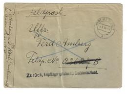 2. Wk Feldpost An 02627 B Aus Konz BZ Trier Vom 8.4.44 - Zurück, Empfänger Gefallen Für Großd...... - Briefe U. Dokumente