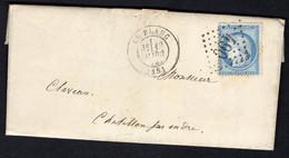 FRANCE ( OBLITERATION LOSANGE )  GC  SUR  LETTRE   490   Blanc (le) Indre , A  SAISIR . - 1849-1876: Klassik
