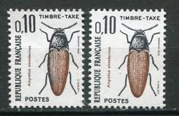 19960 FRANCE Taxe N°103a**(Maury) Coléoptère : Double Frappe  1982  TB/TTB - Variedades: 1980-89 Nuevos