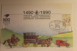 Belgien; Sonderblatt,Erinnerungsblatt,Gedenkblatt: 500 Jahre Post; SST Belgische Post Innsbruck - Zonder Classificatie
